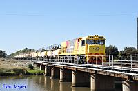 P2507 on 5822 Caustic train seen here arriving into Bunbury Harbour  on the 3rd March 2016