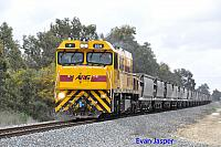 P2508 on 7257 empty coal train seen here powering though Pinjarra South on the 30th August 2014