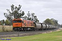 P2509 on 1873 Alumina train seen here heading though Yarloop on the 29th December 2019