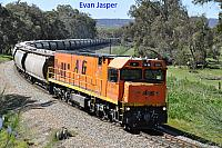 P2509 on 3873 Alumina train seen here heading though South Pinjarra on the 27th August 2019