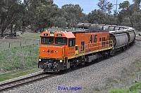 P2509 on 5876 Alumina train seen here heading though South Pinjarra for Calcine Pinjarra on the 20th June 2019
