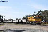 P2510 on 3253 empty coal train seen here heading though Pinjarra on the 27th August 2019