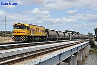 P2510 on 6873 Alumina train seen here approaching the Bunbury Port on the 4th January 2019