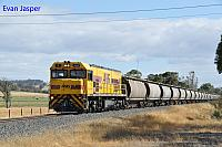 P2510 on 6876 Alumina train seen here heading though Brunswick Junction on the 4th January 2019