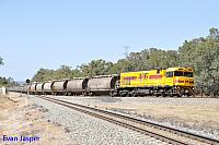 P2510 on 6873 Alumina train seen here departing Alumina Junction for Bunbury on the 18th March 2016
