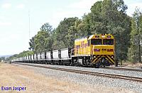 P2510 on 5253 empty coal train seen here powering though Mundijong on the 18th February 2016