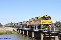 P2510 on 5873 Alumina train seen here arriving into Bunbury Harbour on the 3rd March 2016