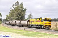 P2511 on 1864 Alumina train seen here heading though Yarloop on the 29th December 2019
