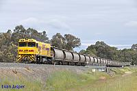 P2511 on 2866 Alumina train seen here heading though Benger (Collie River Bridge) on the 30th September 2019