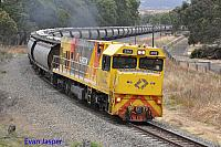 P2512 on 7873 Alumina train seen here heading though Pinjarra on the 7th December 2019