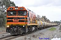 P2513 on 7237 Caustic train seen here heading though Alumina Junction for Calcine on the 30th August 2014