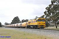 P2515 on 1271 loaded lime train seen here heading though Keysbrook on the 2nd October 2016