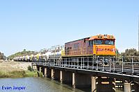 P2516 on 5850 Caustic train seen here arriving into Bunbury Harbour on the 3rd March 2016