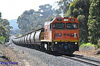 P2516 on 7871 Alumina train seen here powering though Burekup on the 20th August 2014