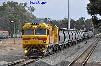 PA2819 on 1224 Alumina train seen here heading though Pinjarra on the 29th December 2019