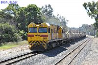 PA2819 on 7903 Caustic train seen here heading though Waroona on the 20th September 2014