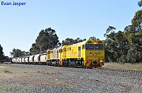 S3301 and S3311 on 4271 loaded lime train seen here heading though Keysbrook on the 17th July 2019
