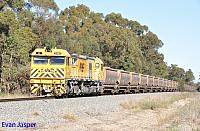 S3303 on 4970 loaded bauxite train seen here heading though North Pinjarra on the 17th July 2019