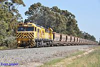 S3303 on 7944 loaded bauxite train seen here powering though North Pinjarra on the 20th September 2014