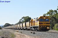 S3304 on 4971 empty bauxite train seen here heading though North Pinjarra on the 17th July 2019