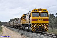 S3304 on 7961 empty bauxite train seen here heading though Alumina Junction for Calcine on the 30th August 2014