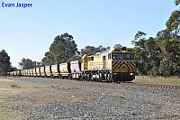 S3305 on 4973 empty bauxite train seen here heading though Keysbrook on the 17th July 2019