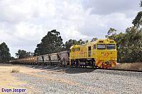 S3305 on 7935 export bauxite train seen here heading though Keysbrook on the 7th December 2019