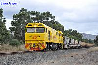 S3305 on 7936 loaded export bauxite train seen here heading though North Dandalup on the 7th December 2019