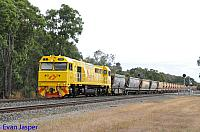 S3305 on 7936 loaded export bauxite train seen here heading though Mundijong on the 7th December 2019