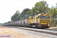 S3306 on 5943 empty bauxite train seen here powering though Mundijong on the 18th February 2016