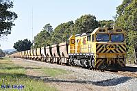 S3306 on 7963 bauxite train seen here sitting at Mundijong loop waiting for a cross on the 20th September 2014