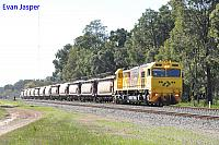 S3307 on 3271 loaded lime train seen here heading though Mundijong on the 30th July 2019