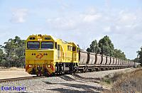 S3308 on 7969 empty bauxite train seen here heading though Keysbrook on the 7th December 2019