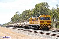 S3308 on 5237 loaded Caustic train seen here powering though Mundijong on the 18th February 2016