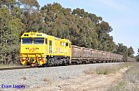 S3310 on 3970 loaded bauxite train seen here heading though North Pinjarra on the 27th August 2019
