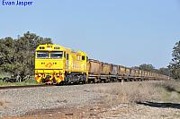 S3310 on 3970 loaded bauxite train seen here heading though Keysbrook on the 30th July 2019