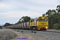 S3311 on 5973 empty bauxite train seen here rolling though North Pinjarra for Calcine Pinjarra on the 20th June 2019