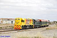 DAZ1901 and C1703 on 5AZ2 Centenary train from Pinjarra to Forrestfield seen here heading though Forrestfield south on the 30th October 2014