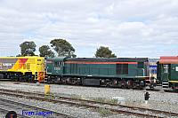 A close up shot of C1703 working 5AZ2 Centenary train from Pinjarra to Forrestfield seen here heading though Forrestfield south on the 30th October 2014