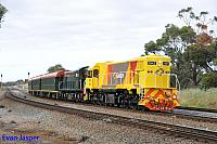 DAZ1901 and C1703 on 6AZ1 Centenary train from Forrestfield to Flashbutt Midland seen here heading though Hazelmere on the 31st October 2014