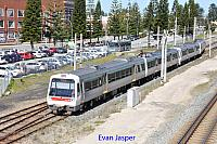Transperth A sets 31 and 18 work a Perth bound train seen here departing Fremantle on the 25th August 2017