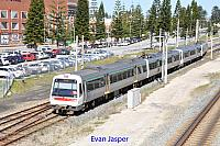 Transperth A sets 37 and 38 work a Perth bound train seen here departing Fremantle on the 25th August 2017
