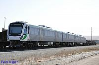 Transperth newiest B set 103 sits in the storage roads in Kewdale on the 6th November 2014