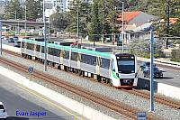 Transperths B set 113 on a Mandurah bound service seen here at South Perth on the 21st January 2017