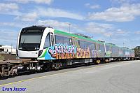 Transperth newiest B set 114 sits at PFT Kewdale waiting to be hauled to Midland for bogie exchange on the 16th March 2016