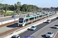 Transperths B sets 91 and 87 on a Perth bound service seen here at South Perth on the 21st January 2017