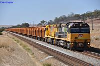 ACA6005 and ACC6031 on 1030 loaded iron ore train at Katrine on the 24th March 2013