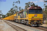 ACA6010 and ACA6005 on 4030 loaded iron ore train at Northam on the 4th April 2012