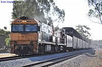 NR11 and NR74 on 5PM5 freighter at Northam on the 2nd December 2010