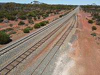 Bonnie Vale (Near Kalgoorlie) Consists of a mainline, loop and refuge siding with the train station on the main line 10th February 2021